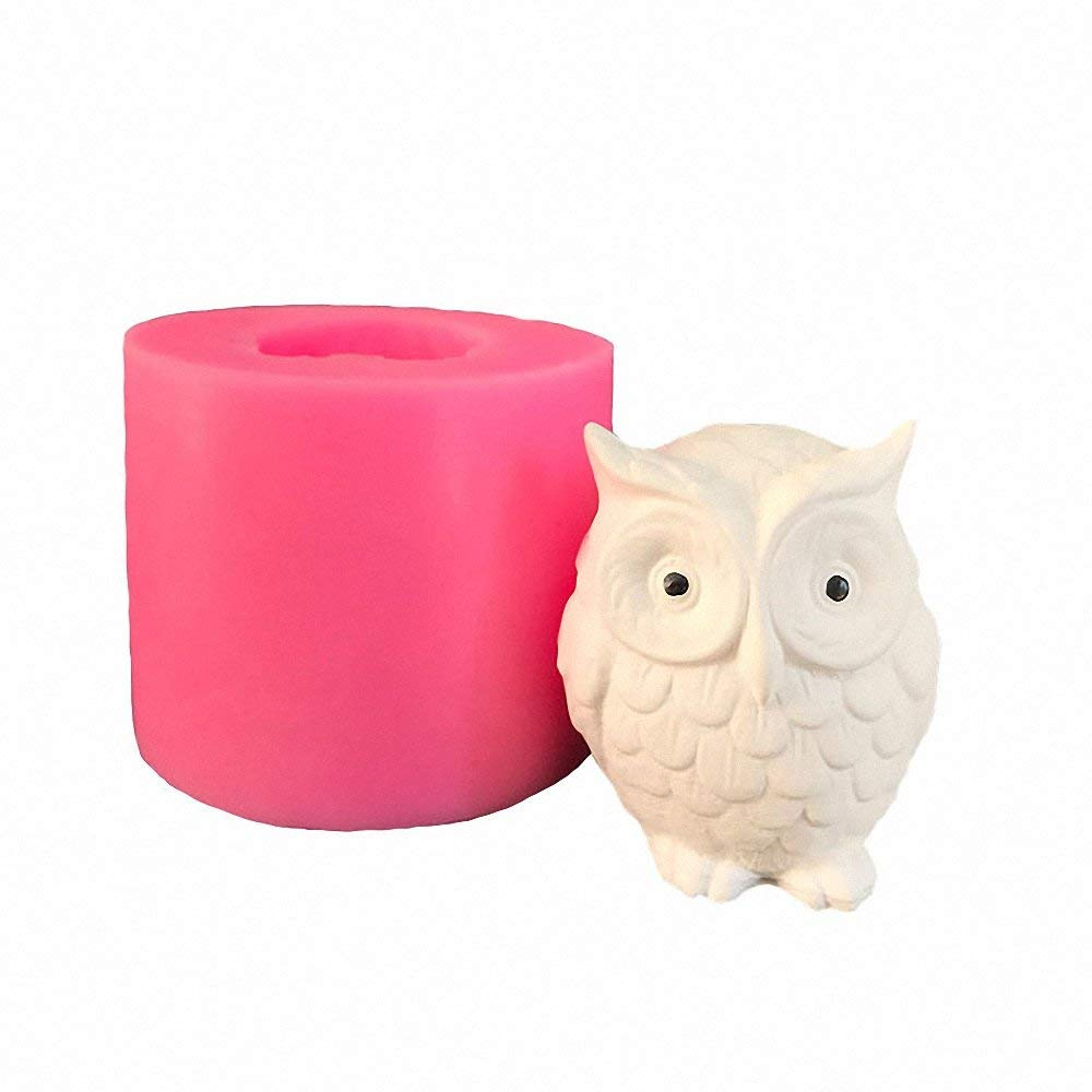 Silicone Owl Candle Mold