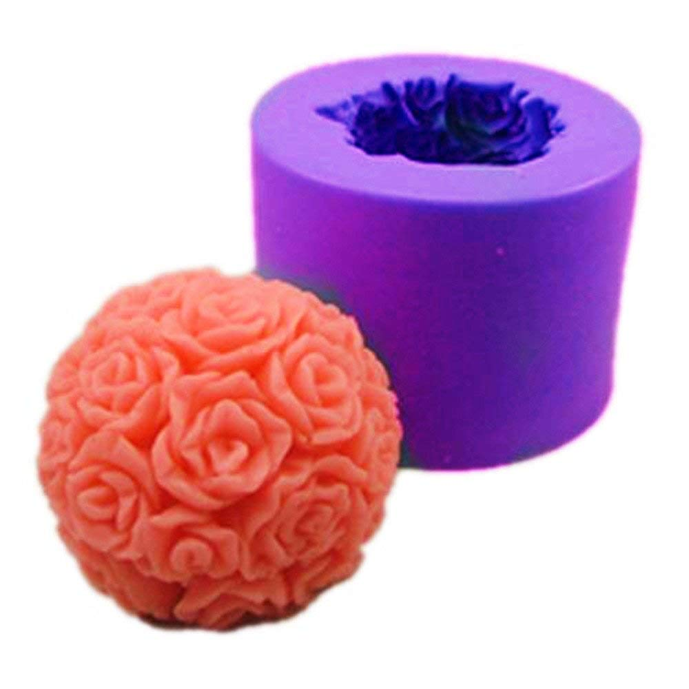Silicone Rose Ball Candle Mold