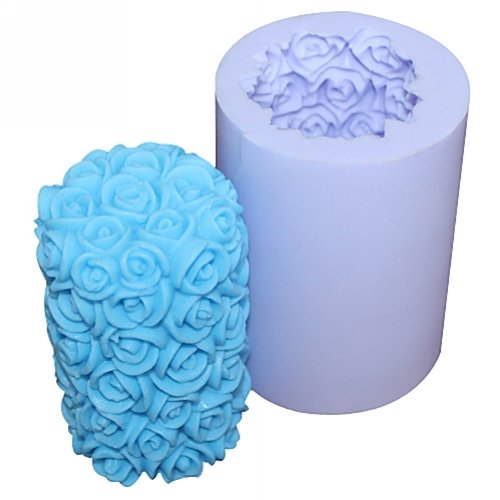 Silicone Rose Cylinder Candle Mold