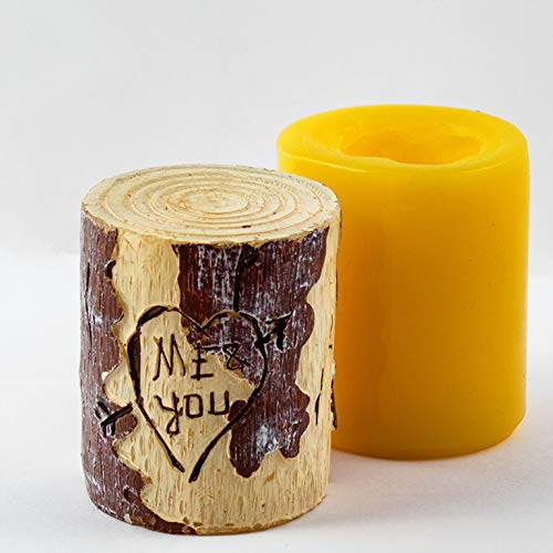 Silicone Wooden Cylinder Candle Mold