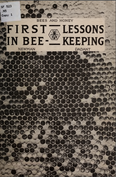 first lessons in beekeeping dadant