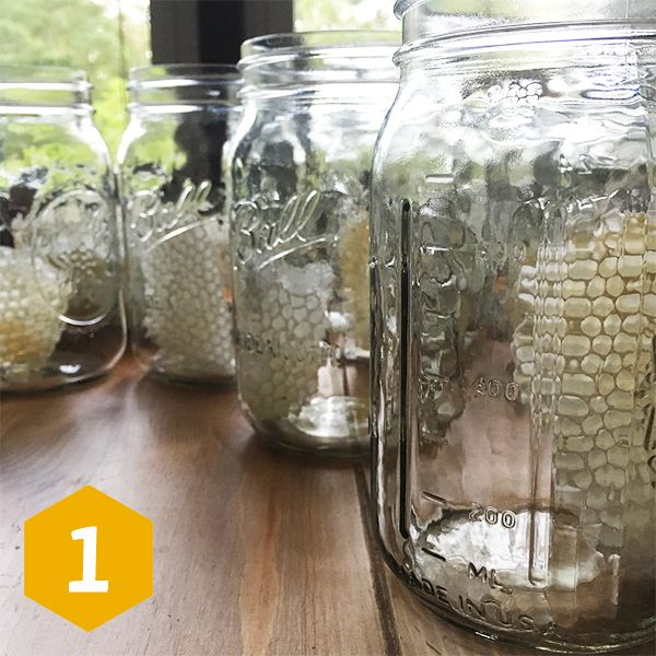 Mason Jar Beehive